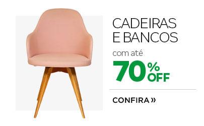 Cadeiras e Bancos com até 70% OFF
