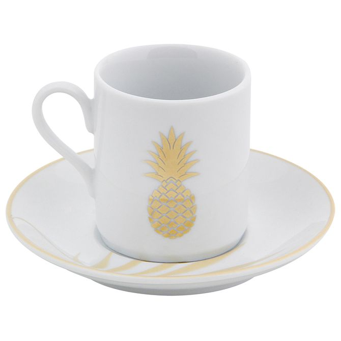 Gold-Xicara-Cafe-Branco-ouro-Pineapple