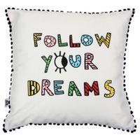 Almofada-45cm-Preto-multicor-Follow-Your-Dreams