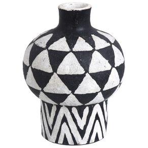 Vaso-Decorativo-26-Cm-Preto-branco-Zambeze