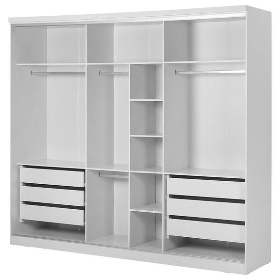 Estrutura Guarda-roupa 3 Portas Branco Friz - Tok Stok - M 473151d934f