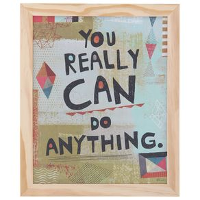 You-Really-Can-Quadro-27x33-Natural-cores-Caleidocolor-Happy-Life