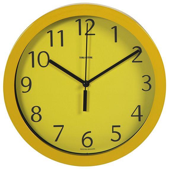 22d8719863e Relógio Parede 24 Cm Amarelo Ticking - Tok Stok - M