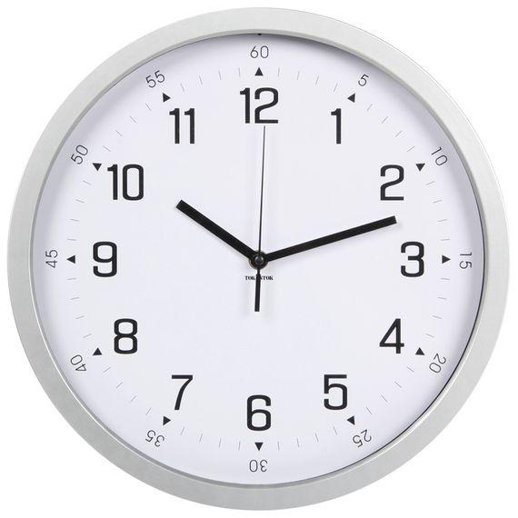 1f3695f0f6f Relógio Parede 35 Cm Prata branco Zeith - Tok Stok - M