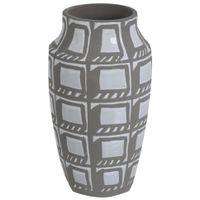 Vaso-Decorativo-27-Cm-Branco-konkret-Brutalism