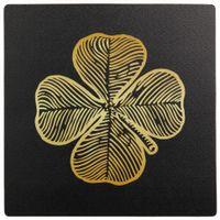 Trevo-Mouse-Pad-Preto-ouro-Lucky