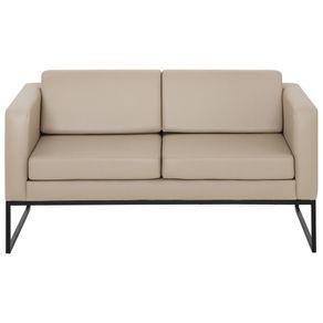 Sofa-2-Lugares-Preto-bege-Detroit