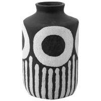 Vaso-Decorativo-27-Cm-Preto-branco-Zambeze