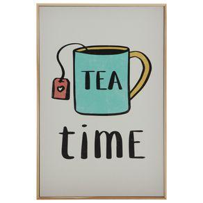 Tea-Time-Quadro-20-Cm-X-30-Cm-Natural-multicor-Tealex