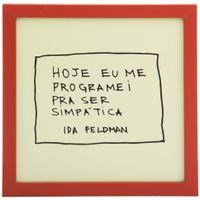 Ida---Ser-Simpatica-Quadro-22-Cm-X-22-Cm-Terracota-verde-Claro-Reflexoes-Da-Ida-Feldman