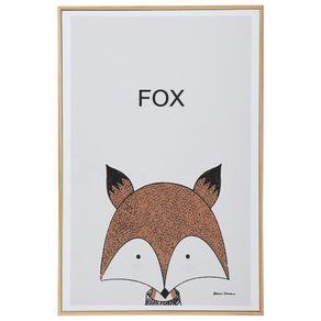 Fox-Quadro-20-Cm-X-30-Cm-Natural-multicor-Little-Ones