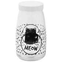 Pote-Para-Racao-Incolor-preto-Meow