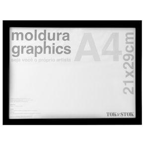 Kit-Moldura-A4-21-Cm-X-29-Cm-Preto-Graphics