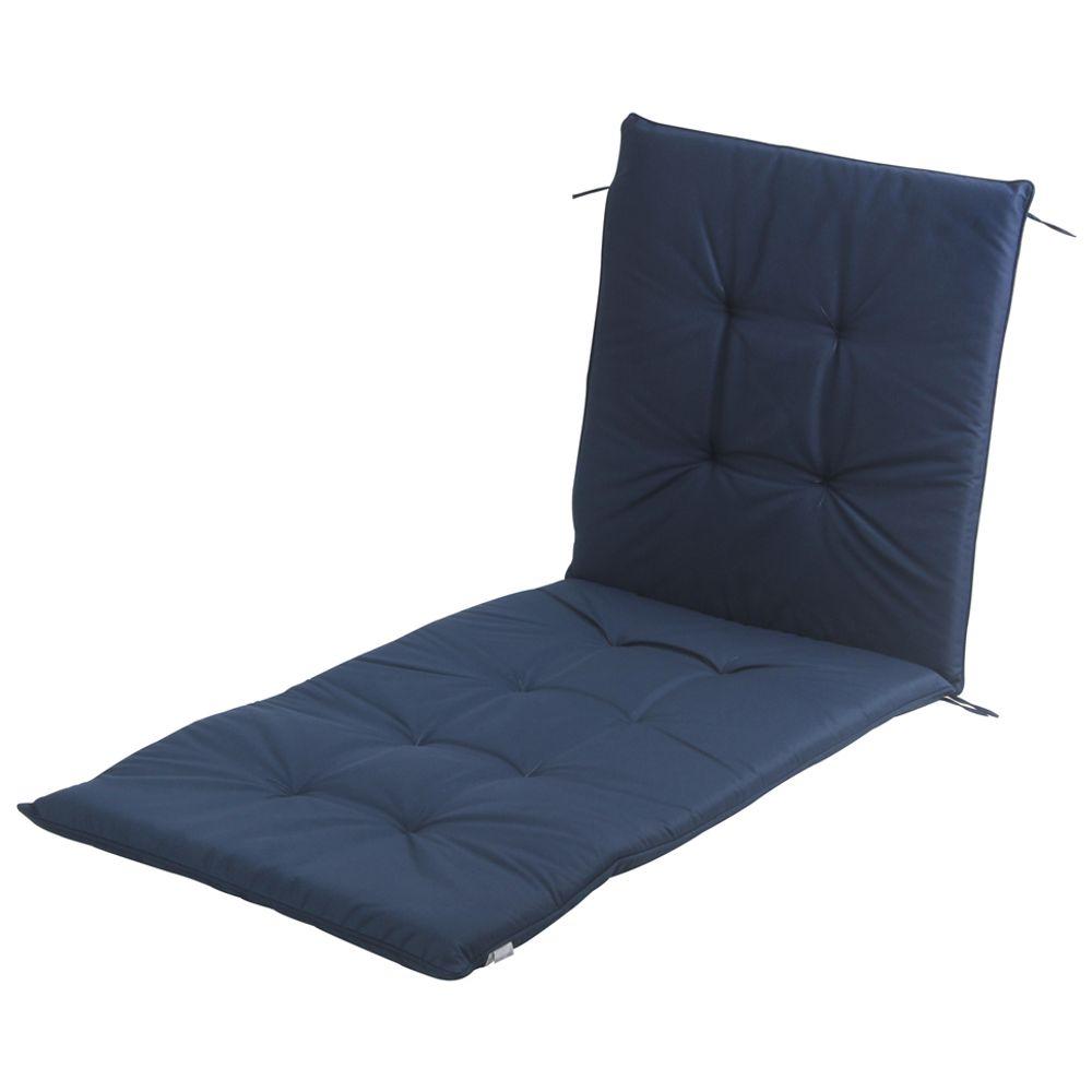 6f628a867 Almofada Chaise Longue Azul Escuro Leme - Tok Stok - M
