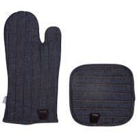 Luva-De-Forno-C-pegador-Jeans-Azul-marrom-Workwear