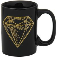 Diamante-Caneca-130-Ml-Preto-ouro-Lucky