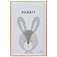 Rabbit-Quadro-20-Cm-X-30-Cm-Natural-multicor-Little-Ones