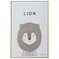 Lion-Quadro-20-Cm-X-30-Cm-Natural-multicor-Little-Ones