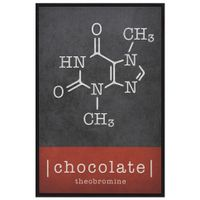 Chocolate-Quadro-20-Cm-X-30-Cm-Preto-multicor-Moleculas