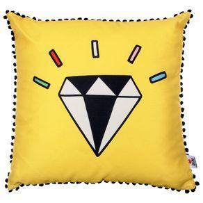 Diamond-Almofada-45cm-Amarelo-rosa-Follow-Your-Dreams