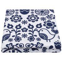 Lencol-Casal-queen-240x250-Azul-Escuro-branco-Folksy