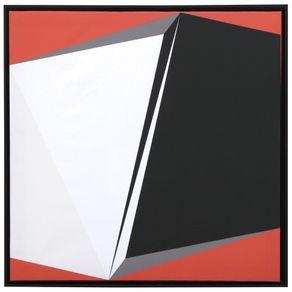 Iii-Quadro-55-Cm-X-55-Cm-Preto-terracota-Geometry