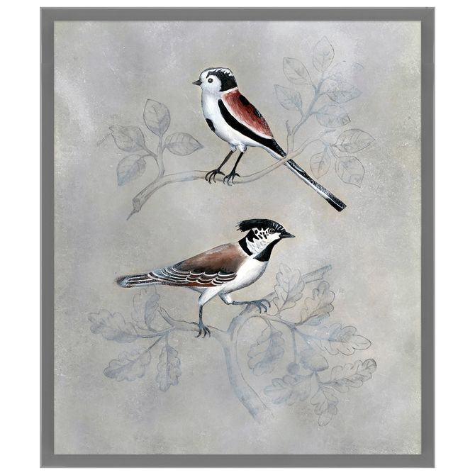 Silvered-Aviary-Ii-Quadro-60-Cm-X-70-Cm-Multicor-cinza-Provence-Galeria-Site
