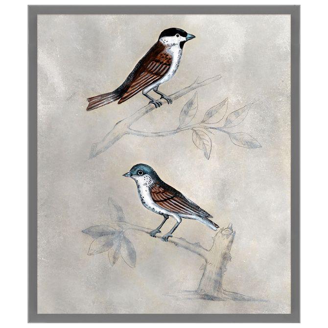 Silvered-Aviary-I-Quadro-60-Cm-X-70-Cm-Multicor-cinza-Provence-Galeria-Site