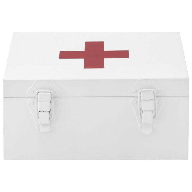 Caixa-Para-Remedios-Branco-vermelho-First-Aid