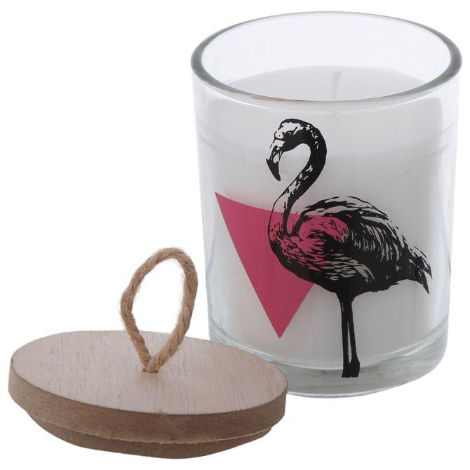 Vela-Pote-9-Cm-X-7-Cm-Incolor-branco-Flamingo
