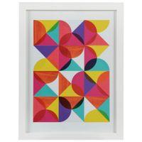 I-Quadro-33-Cm-X-43-Cm-Branco-cores-Caleidocolor-Geocolor