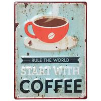 Placa-Decor-40x30-Multicor-Start-With-Coffee