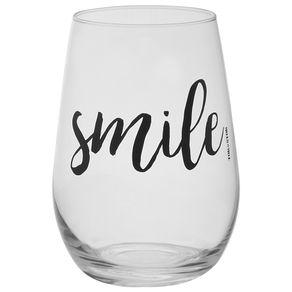 Smile-Copo-L-Drink-460-Ml-Incolor-preto-Wish-And-Shout