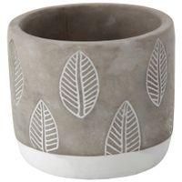 Leaves-Cachepo-11-Cm-Konkret-branco-Beton