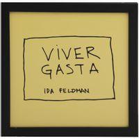 Ida---Viver-Gasta-Quadro-22-Cm-X-22-Cm-Preto-amarelo-Reflexoes-Da-Ida-Feldman