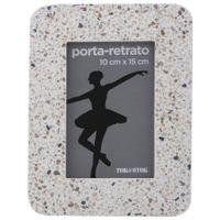 Porta-retrato-10-Cm-X-15-Cm-Branco-multicor-Terrazo