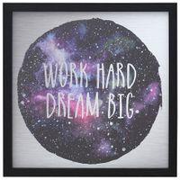 Dream-Big-Quadro-30-Cm-X-30-C-Preto-multicor-Youniverse