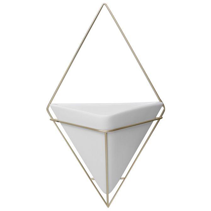 Vaso-Parede-39-Cm-Branco-ouro-Trigg