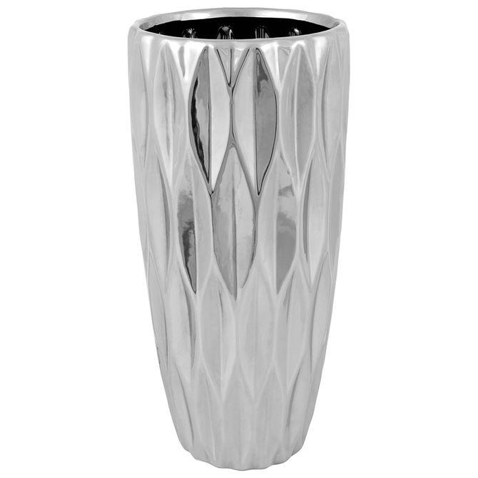 Vaso-30-Cm-Prata-Veins
