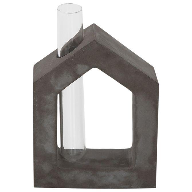 Frame-Vaso-House-16-Cm-Konkret-incolor-Beton