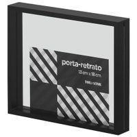 Porta-retrato-13-Cm-X-18-Cm-Preto-incolor-Paraleh