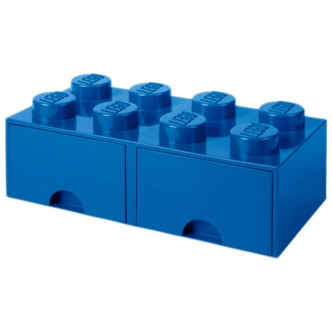 Bloco-Organizador-50-Cm-C-2-Gavetas-Azul-Lego