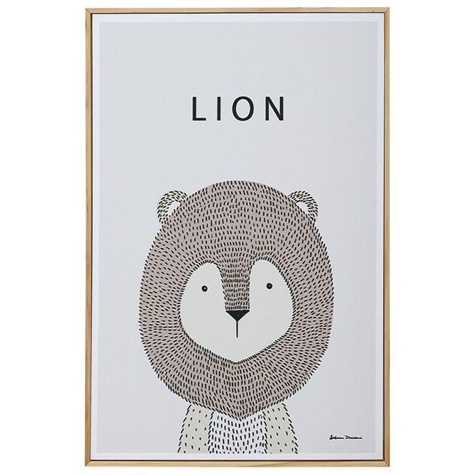 Lion-Quadro-20-Cm-X-30-Cm-Natural-multicor-Little-Ones