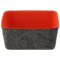 Porta-clips-cartoes-Cinza-laranja-Fit-Felt