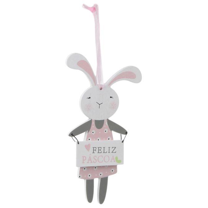 Placa-Coelha-Cinza-rosa-Ternurinhas-E-Orelhinhas