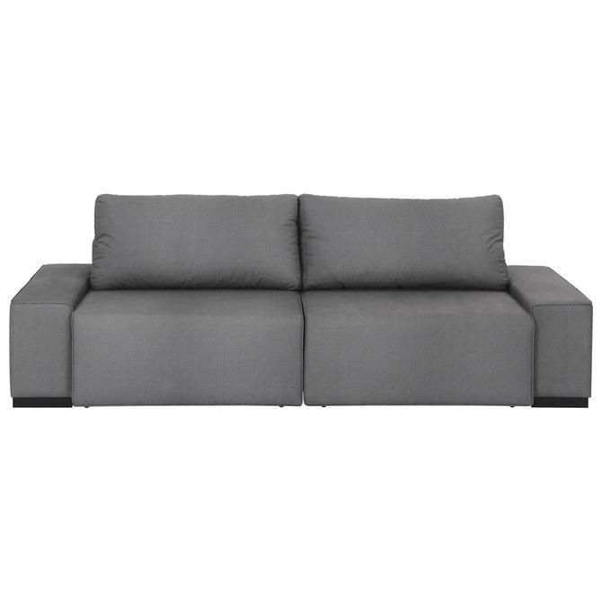 Sofa Retratil 3 Lugares Cinza Bogart Tok Stok M