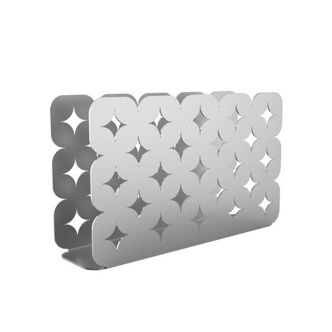 Porta-Guardanapos-Tramontina-Em-Aco-Inox-Desenhos-Vazados-Inox-Luce