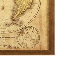 Mapa-mundi-Western-Hemisph-Quadro-33x33-Garapa-bege-Mapa-Mundi