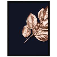 Rose-Leaves-I-Quadro-32-Cm-X-42-Cm-Preto-cobre-Galeria-Site