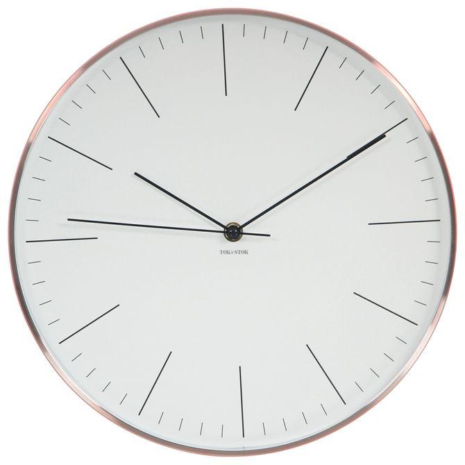 Relogio-Parede-31-Cm-Cobre-branco-Tempo